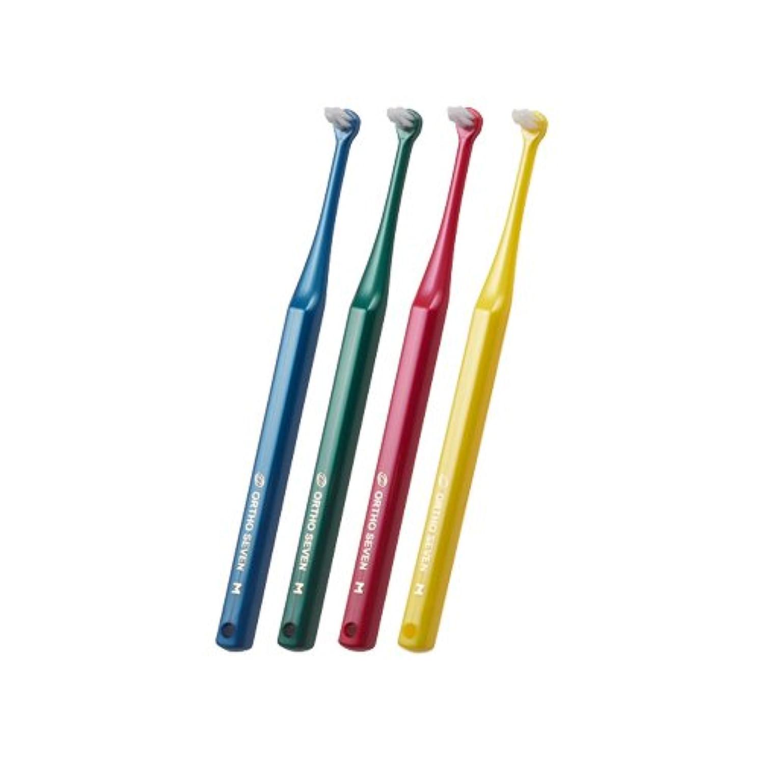 米国ロゴ弱いORTHO SEVEN オーソセブン 歯ブラシ 4本セット