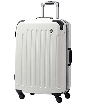 S型 シルクホワイト / newPC7000 スーツケース キャリーバッグ TSAロック搭載 鏡面加工(1~3日用)
