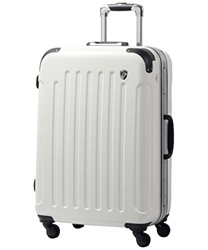 MS型 シルクホワイト / newPC7000 スーツケース キャリーバッグ TSAロック搭載 鏡面加工(3?5日用)