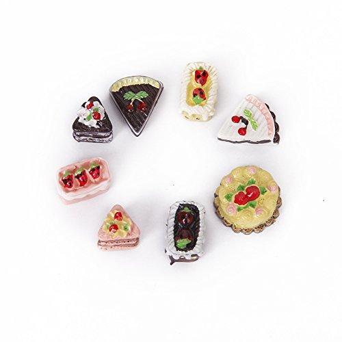 Hommy 8種セット 洋菓子の物語 ケーキ屋 ミニチュア食品 ドールハウス アクセサリー