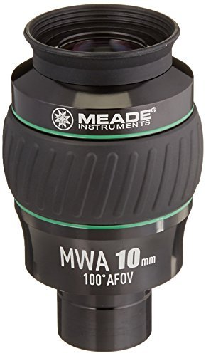 Meade Instruments 607016 Eyepiece 100 Degree MWA 10MM 1.25-Inch (Black/Green) [並行輸入品]