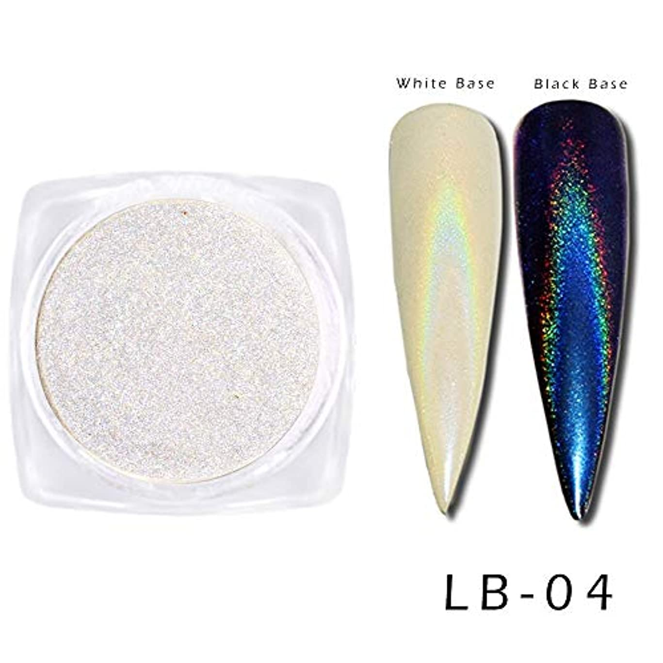 免疫わかる魚0.5グラムネイル顔料クロームパウダーミラーカメレオンゴールドブルーパープルダストレーザーネイルアートグリッターデコレーションマニキュアSALB01-06 LB04