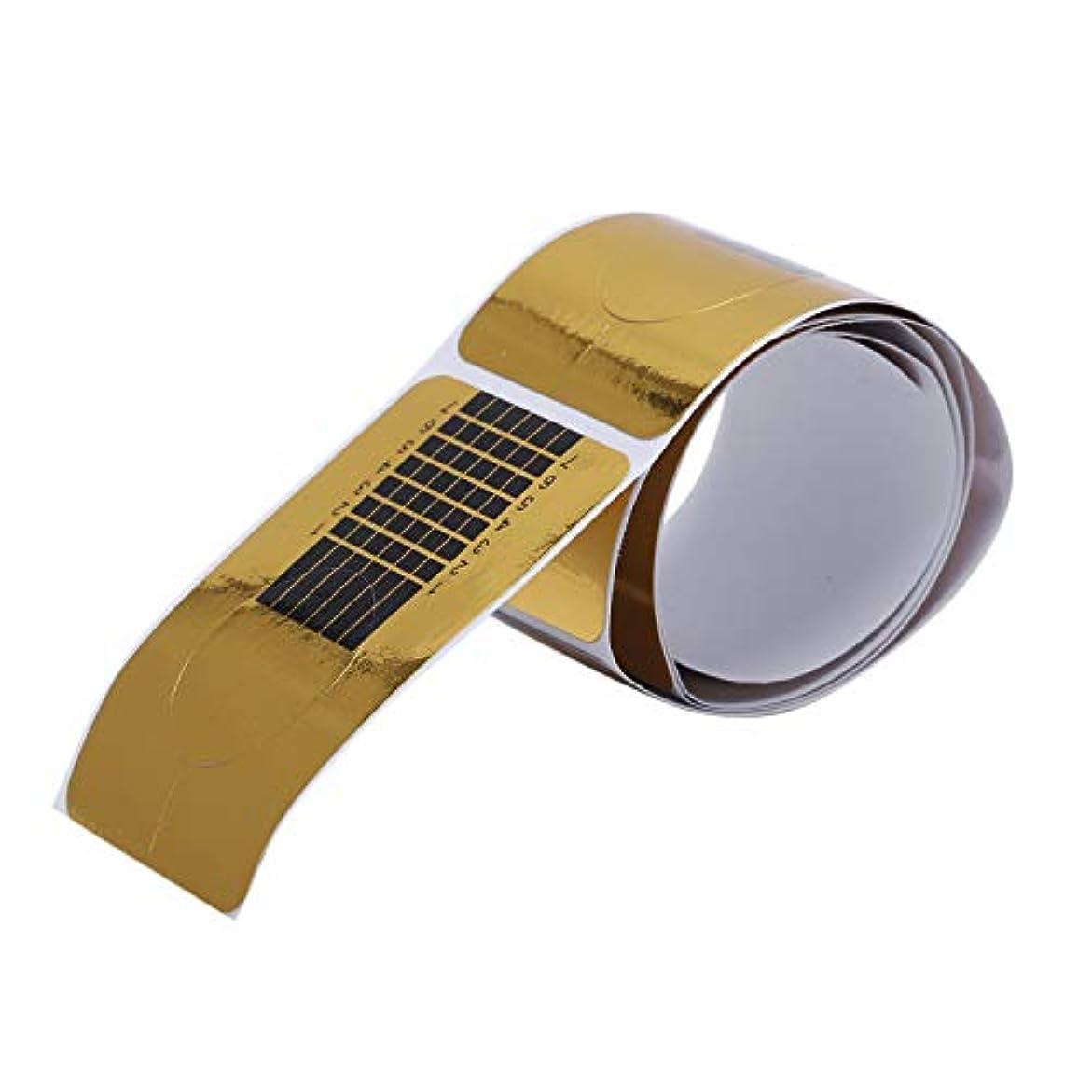 ステンレス幸運な遮るAFBEST 100x ゴールデンのネイルのカバー、DIYツール