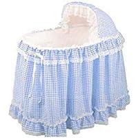 BabyDoll Gingham Liner/Skirt and Hood Baby Doll, Light Blue, 15