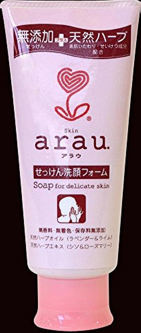 時没頭するステンレス【お徳用 12 セット】 arau.(アラウ) せっけん洗顔フォーム 120g×12セット