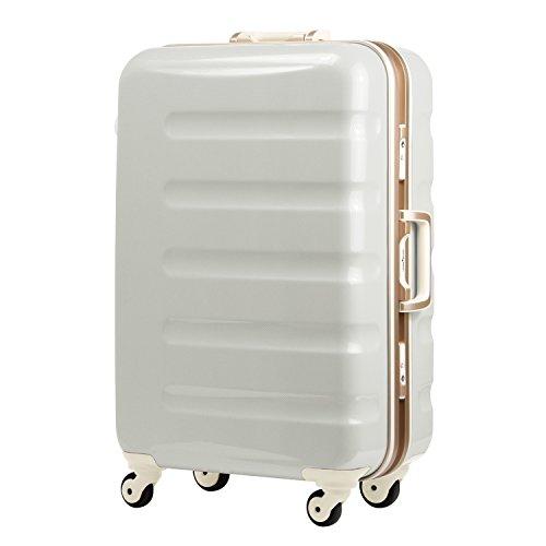 (レジェンドウォーカー) LEGEND WALKER 超軽量 スーツケース カラーフレーム 【一年安心保証】 静音キャスター TSAロック搭載 (機内持込から4サイズ) おしゃれでかっこいい キャリーバック キャリーレーザーIDオプション1500円 (Mサイズ-60cm(3~5日), ホワイトカーボン)