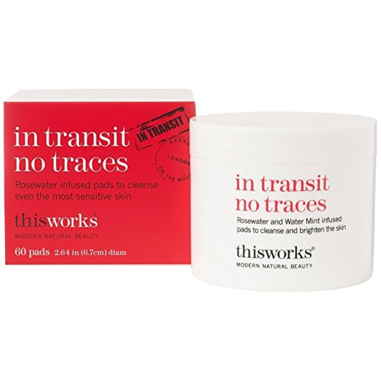 日焼けファシズム居住者これは、輸送中に痕跡、60パッドに動作しません (This Works) (x6) - This Works In Transit No Traces, 60 Pads (Pack of 6) [並行輸入品]