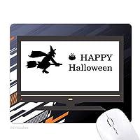 ハッピーハロウィン幽霊を恐れてウィザード ノンスリップラバーマウスパッドはコンピュータゲームのオフィス