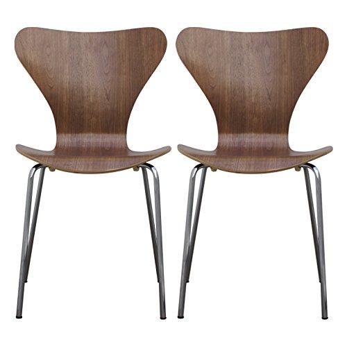 【2個セット】 北欧家具の代名詞!『セブンチェア』 セブンチェア デザイナーズ アルネ・ヤコブセンデザイン (ウォールナット)