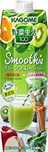 カゴメ 野菜生活100 Smoothie グリーンスムージーミックス 1000g×6本