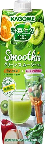 カゴメ 野菜生活100 Smoothie グリーンスムージーミックス 1000ml×6本