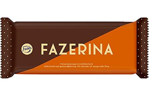 ファッツェル ファッツエリナ ミルクチョコレート(オレンジトッフェ)100g入り×2パック2   フィンランドの定番のファッツェルのチョコレート  Fazer FAZERINA Orange Truffle Filling Finnish Milk Cho