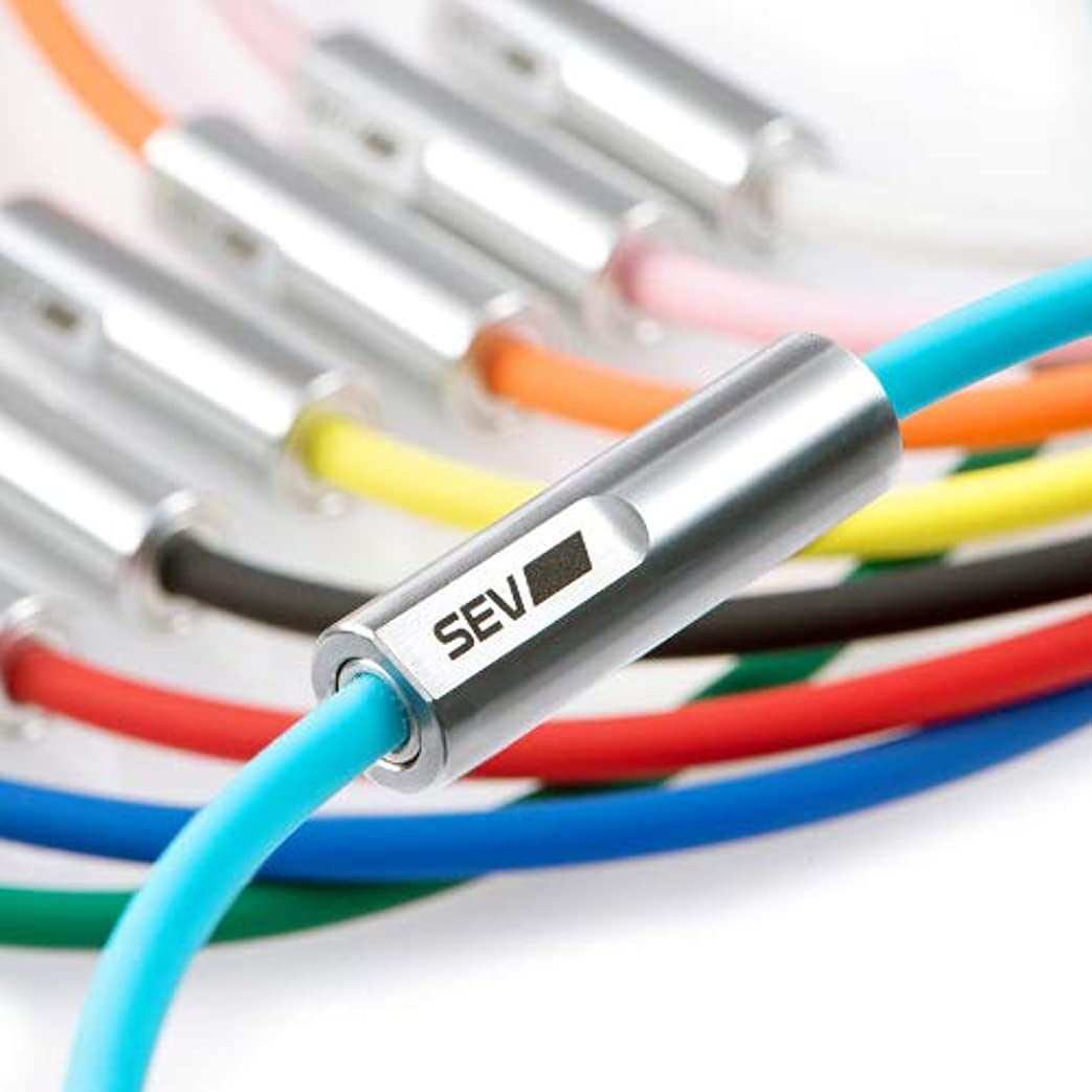 蜂クレーンドローSEVルーパー typeM 【SEV Looper type M セブネックレス】 (ホワイト, 46 センチメートル)