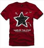 【 UN ANANAS 】 カジュアル 星柄 Tシャツ メンズ トップス シャツ インナー コットン 綿 サイズ S M L XL 2XL 3XL 4XL 大きいサイズ (2XL, ホワイト)