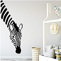 Zebra adesivo da parete in vinile camera dei bambini decorazione della camera dei bambini adesivo da parete decorazione della parete adesivo creativo adesivo murale adesivo da parete 30 cm x 71 cm