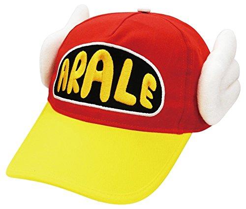 アラレちゃん帽子 大人用 キャップ フリーサイズ レッド RM-4063