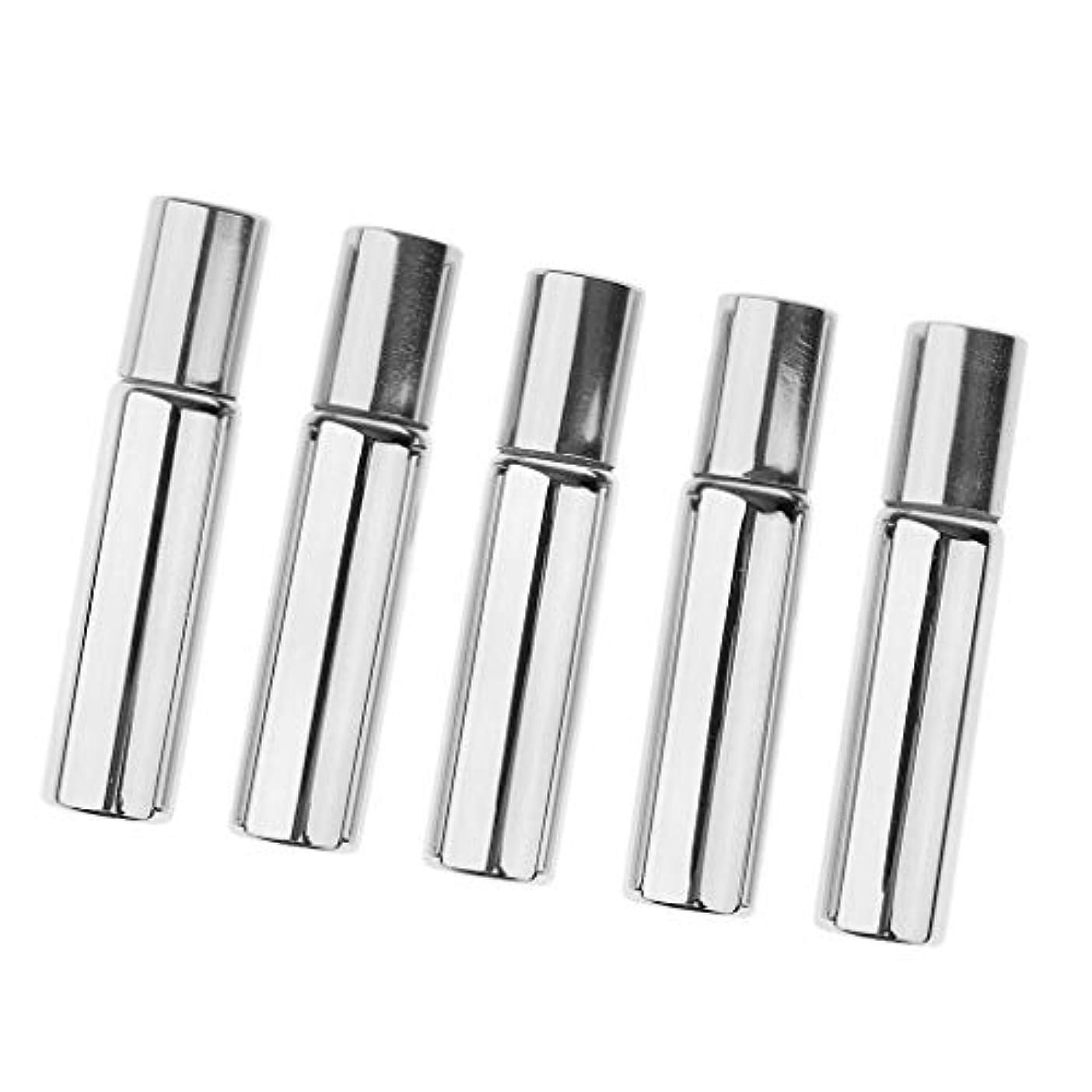 見積りボーカル香水FLAMEER 5本 10ml ローラーボトル スチールボールボトル メイクアップボトル 2色選べ - 銀