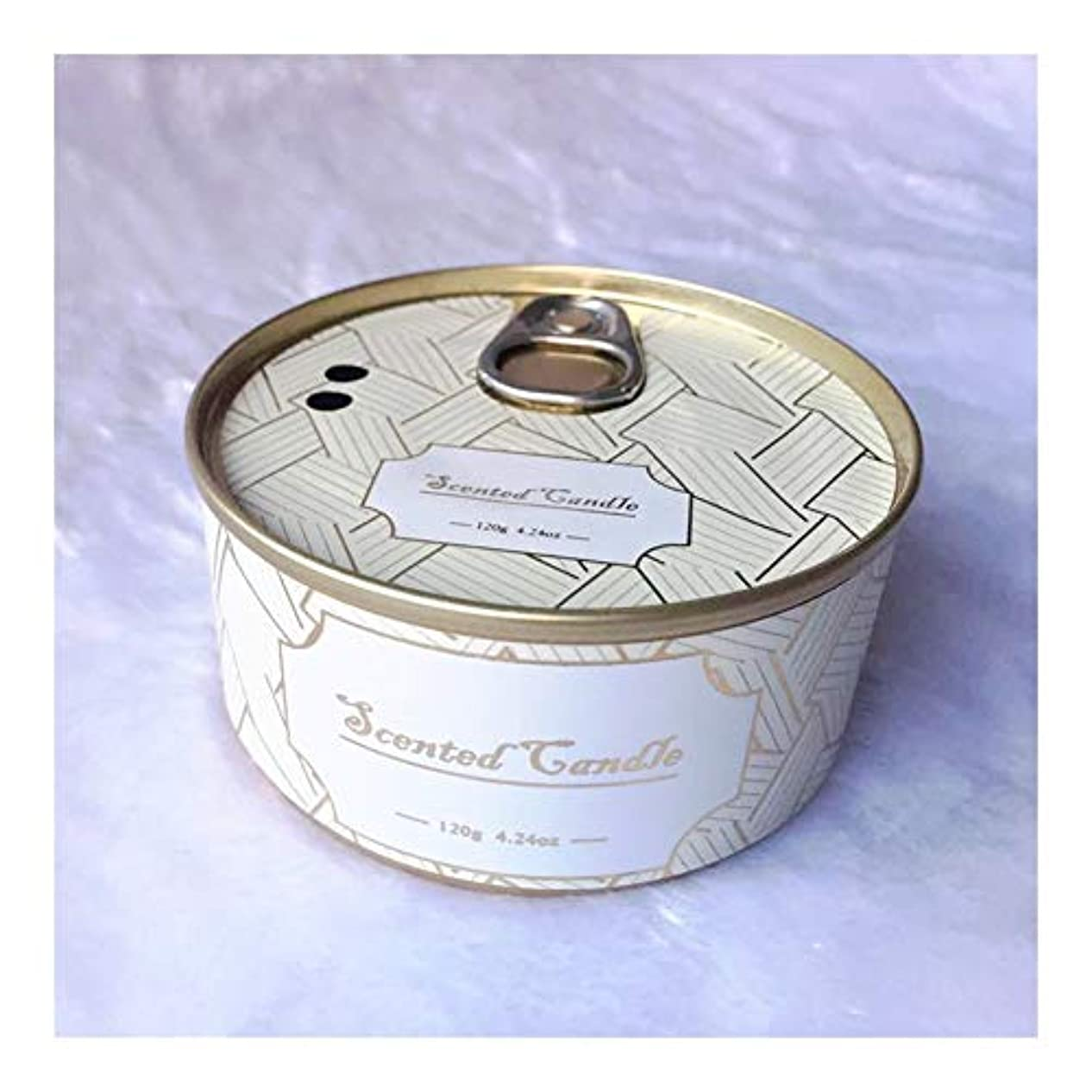 Guomao ブリキ缶植物エッセンシャルオイル大豆ワックスジュニパーラベンダーの香りのキャンドル (色 : Lavender)