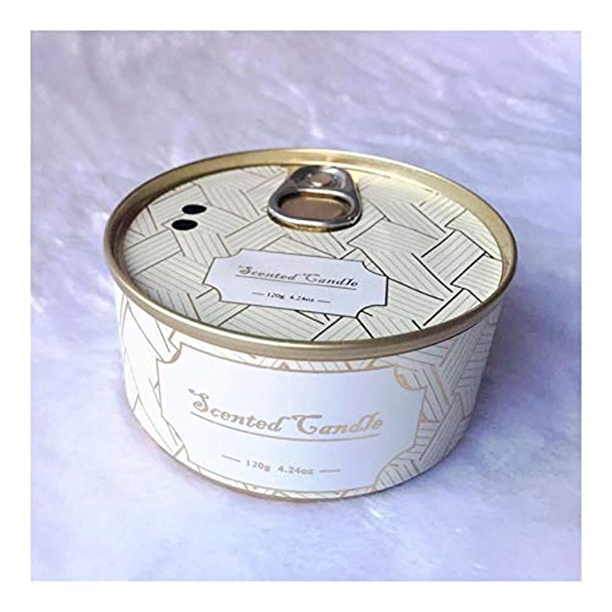 つかむ優れた変換するGuomao ブリキ缶植物エッセンシャルオイル大豆ワックスジュニパーラベンダーの香りのキャンドル (色 : Lavender)