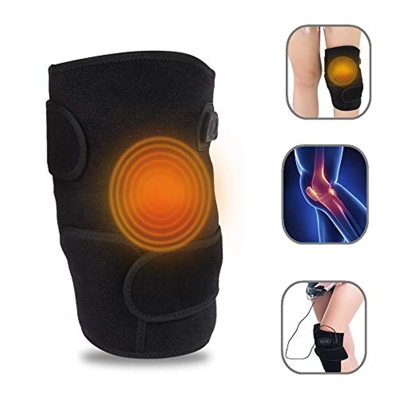 セブンスクリューパパマッサージ 膝の理学療法装置、膝の振動、膝の痛みを和らげる 電熱療法、 冬の暖かさ リウマチ