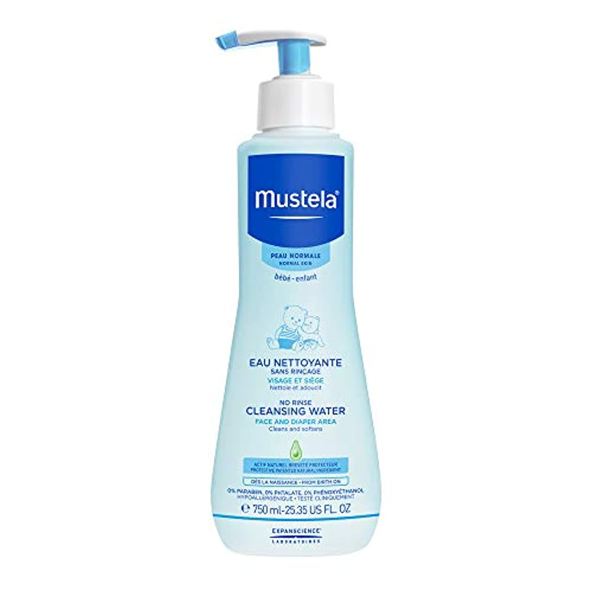 ぺディカブ問い合わせる薬ムステラ No Rinse Cleansing Water (Face & Diaper Area) - For Normal Skin 750ml/25.35oz並行輸入品