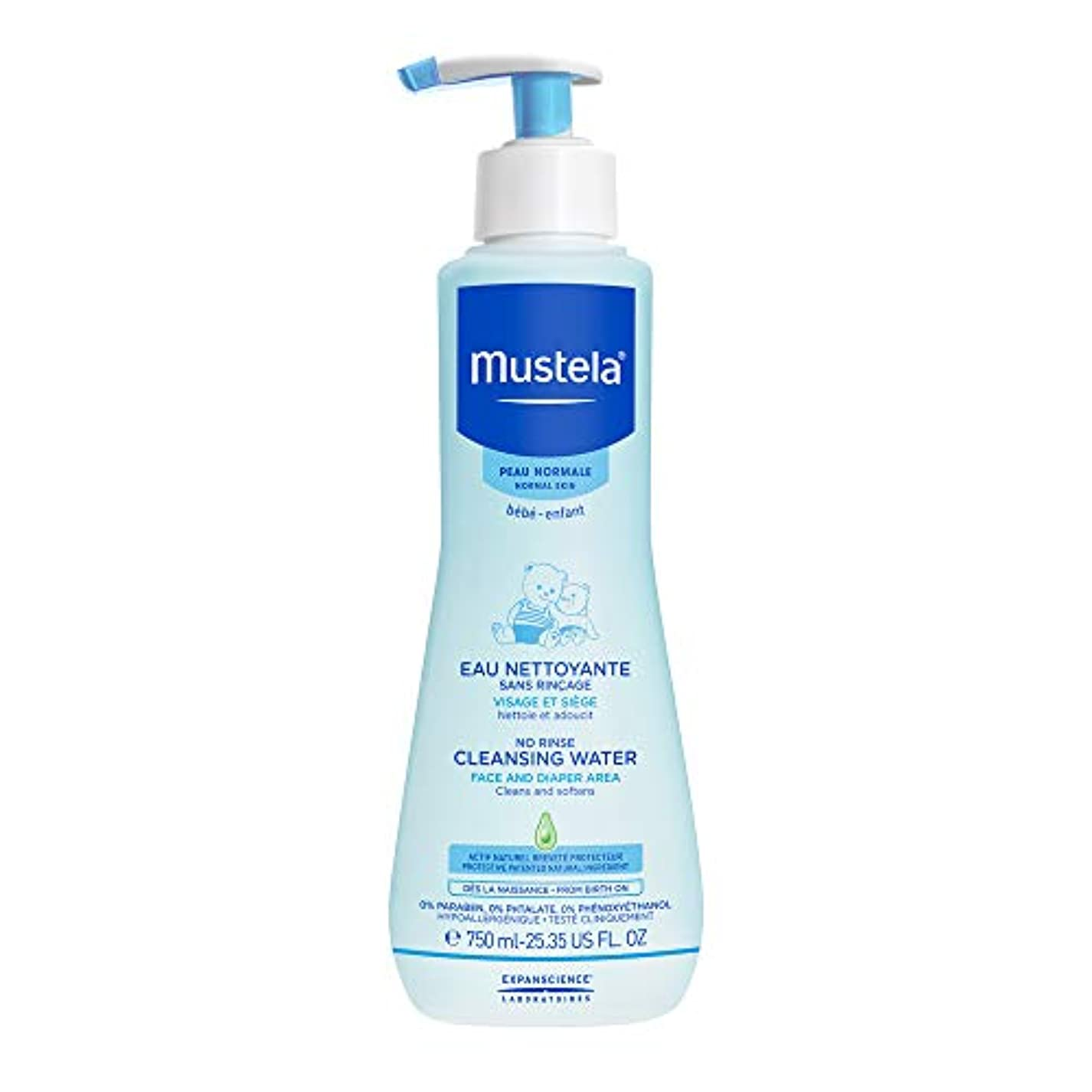 距離立場こどもセンタームステラ No Rinse Cleansing Water (Face & Diaper Area) - For Normal Skin 750ml/25.35oz並行輸入品