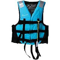 Perfk  全2色5サイズ カヤック カヌー ボート スイミング 釣り 漂流 ライフジャケット ベスト 笛付 快適 安全性