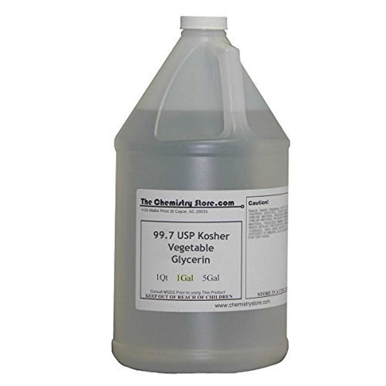 Kosher USP Food Grade 1 Gallon Vegetable Glycerin (99.7% USP) by The Chemistry Store