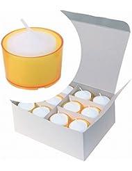 カメヤマキャンドル( kameyama candle ) カラークリアカップボーティブ6時間タイプ 24個入り 「 イエロー 」