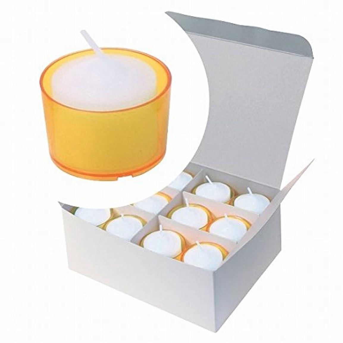 優遇させる縫うカメヤマキャンドル( kameyama candle ) カラークリアカップボーティブ6時間タイプ 24個入り 「 イエロー 」