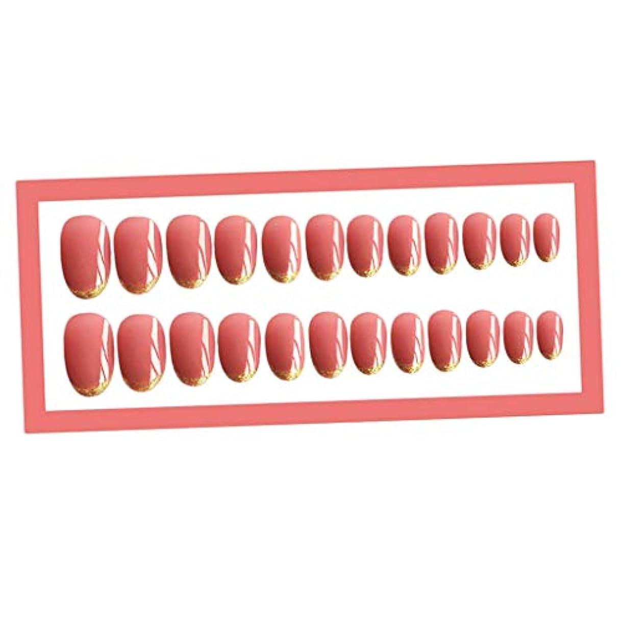 高層ビル肉インポートTachiuwa ネイルアート ヒント ネイルチップ ネイルヒント フルカバー ネイルデザイン ネイルデコレーション - ピンク