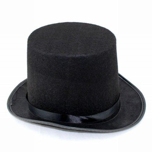 即席紳士! シルクハット ( 黒 ) 手袋 付き マジック コスプレ ダンス 手品 帽子 変装 仮装 舞台 演芸 ステージ 出し物 一発芸