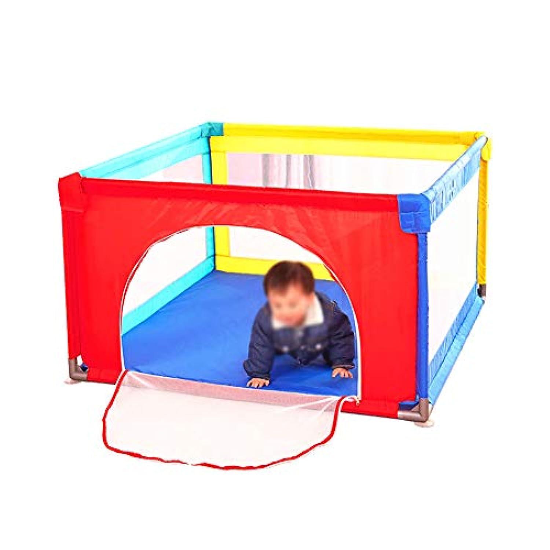 マット付きの遊び場ポータブルフォールディングフェンス室内赤ちゃん新生児幼児用屋外安全ゲームプレイペン (サイズ さいず : 100×100×70cm)