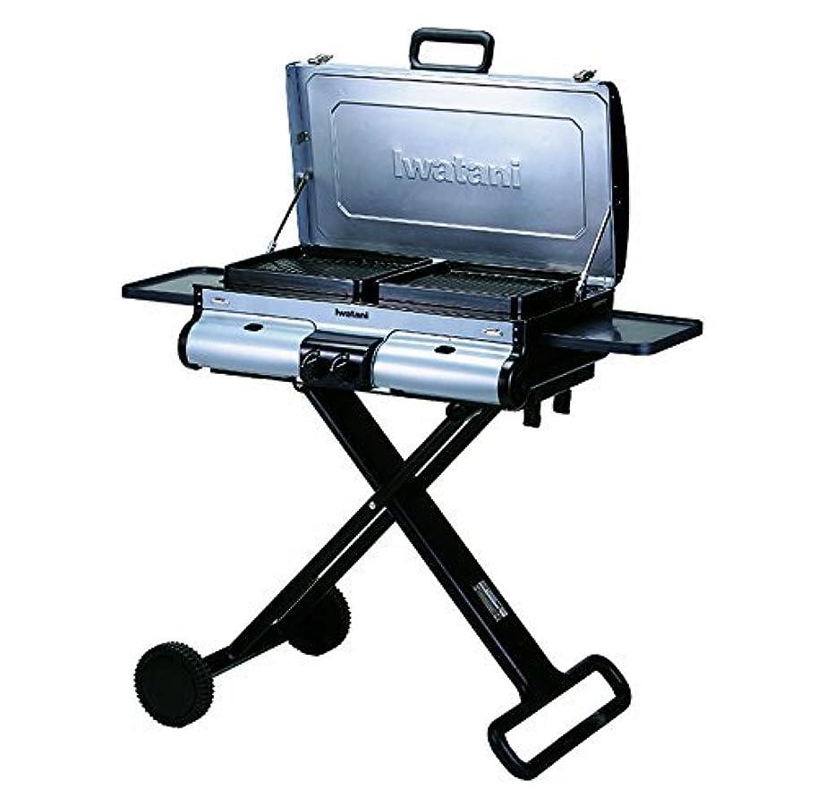 ワゴン家庭機関IWATANI CORPORATION OF AMERICA G-Station Portable BBQ Grill Station 40.55 by 20.87 by 47.64 Silver [並行輸入品]