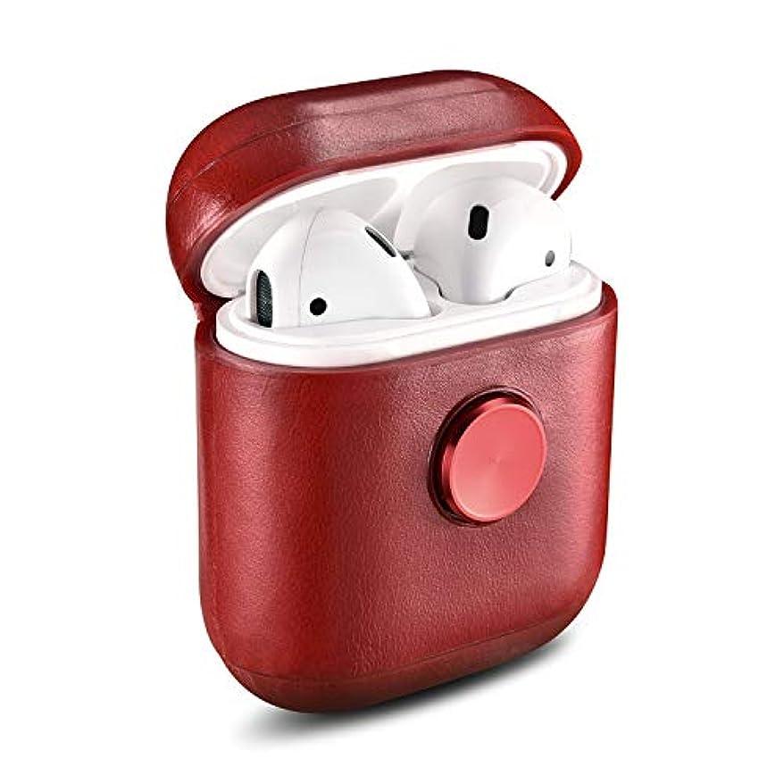 聴衆かなりのお互いハンドスピナー玩具、taStoneレトロレザーAirPodsケース(指先ジャイロ付き)Bluetoothヘッドセット収納ボックスポータブル耐衝撃カバーBluetoothイヤホンセットギフト用Apple Airpods 2...