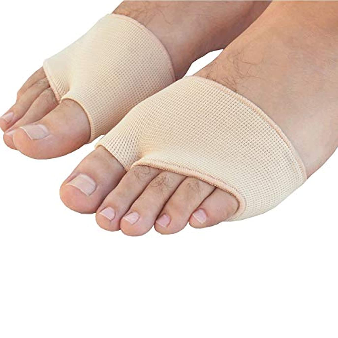 前奏曲鋸歯状からに変化するROSENICE ゲルの前足中足骨の痛み救済吸収クッション パッド サイズL (肌の色)