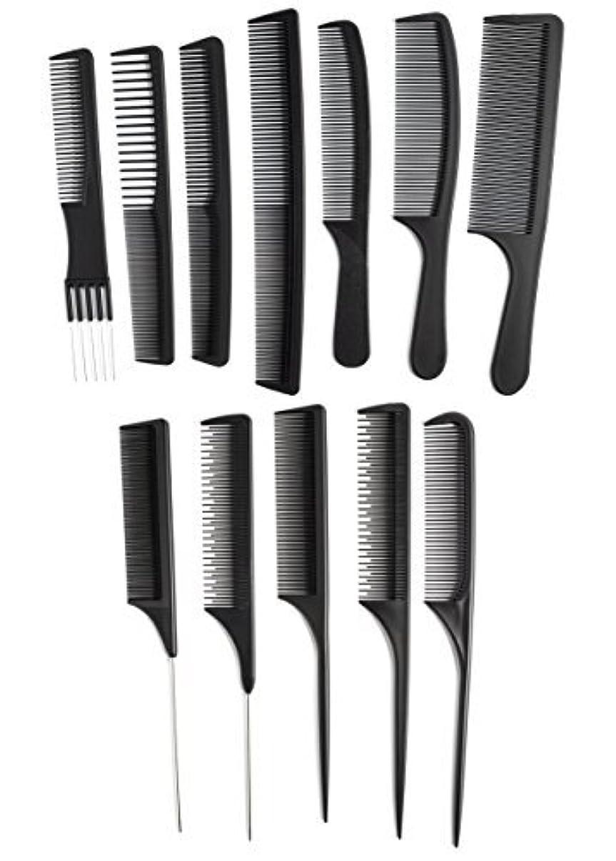 ゴム樫の木鋭くOneDor Professional Salon Hairdressing Styling Tool Hair Cutting Comb Sets Kit [並行輸入品]