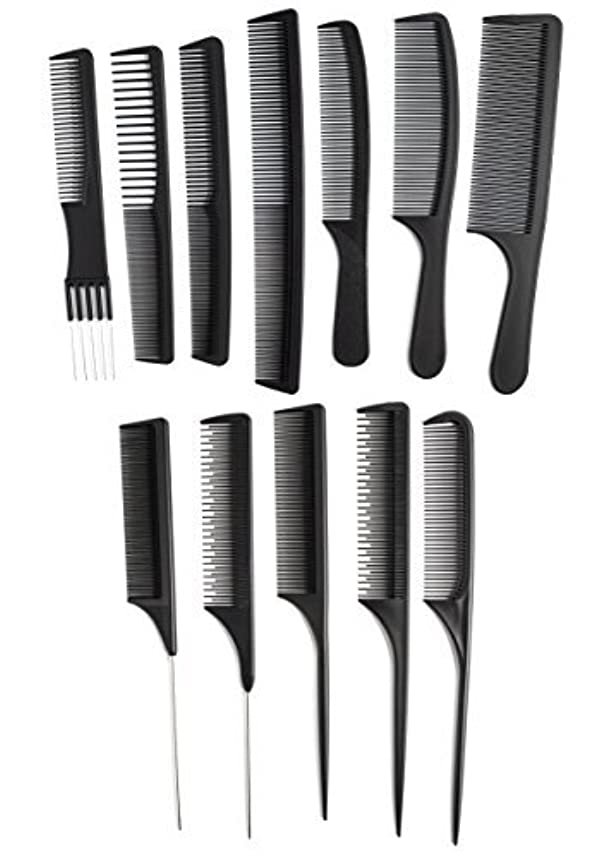OneDor Professional Salon Hairdressing Styling Tool Hair Cutting Comb Sets Kit [並行輸入品]