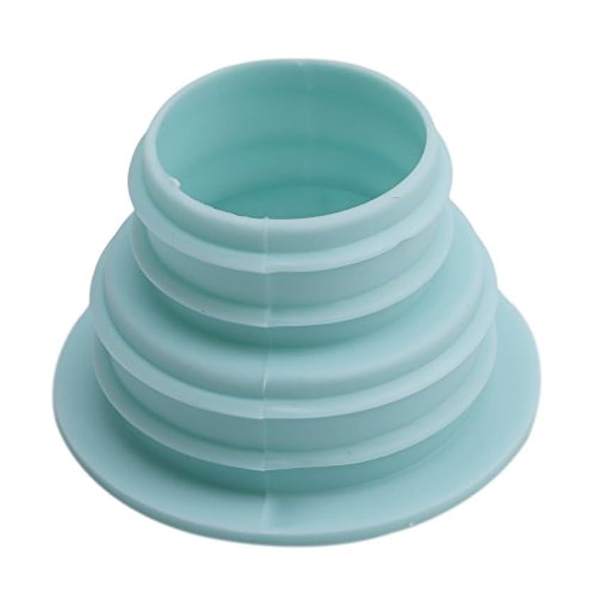 志すドラッグスリーブBEE&BLUE 洗濯機ホース用の排水口取り付けパーツ (ライトブルー)
