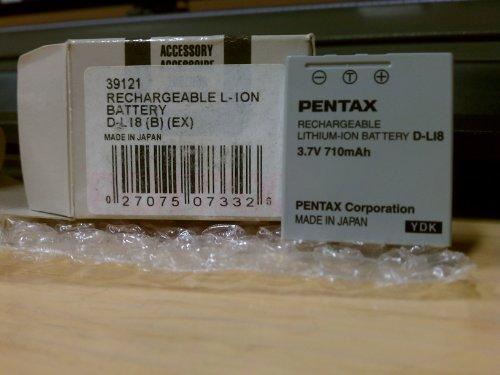 PENTAX 充電式リチウムイオンバッテリー D-LI8 39120