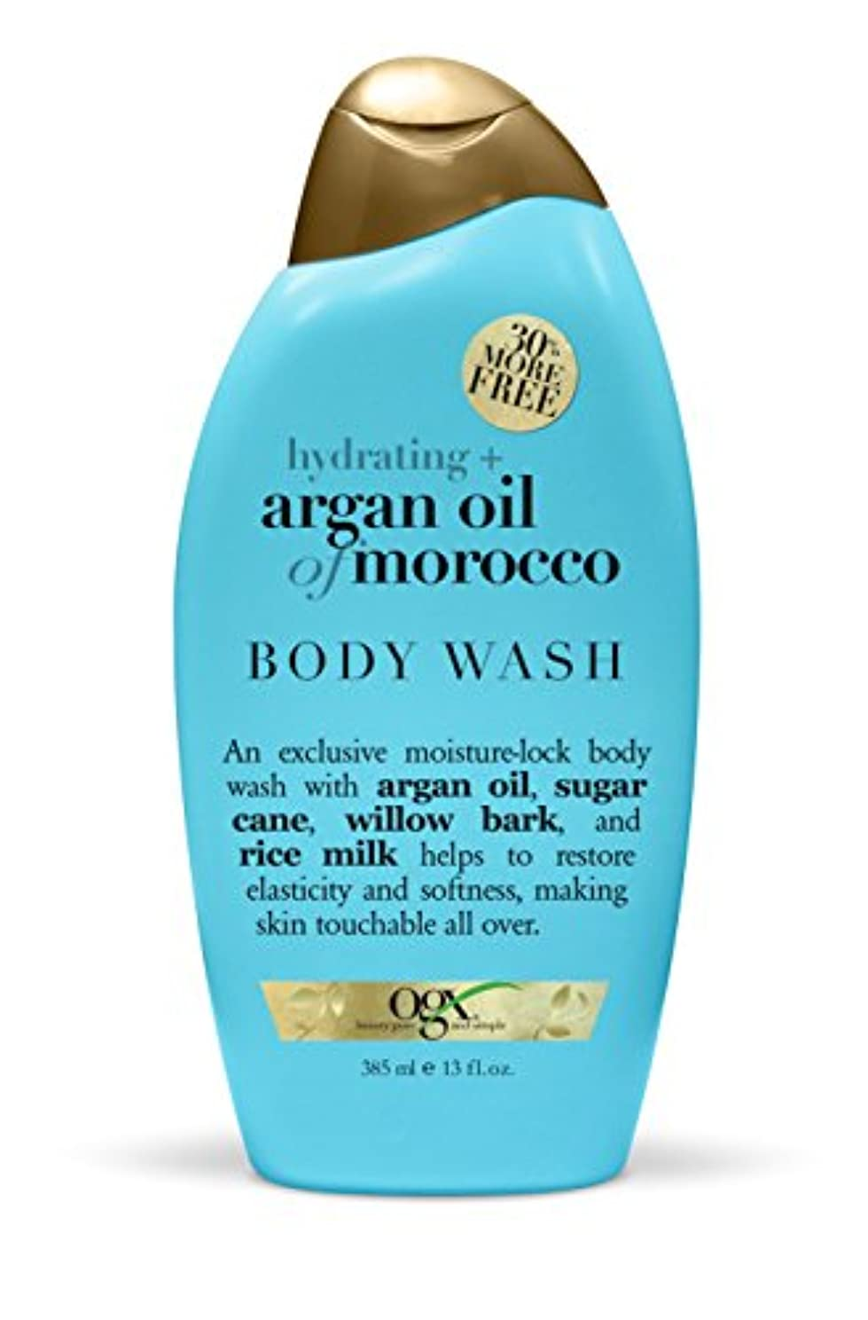 剃る戦い可能性Organix Body Wash Moroccan Argan Oil 385 ml (Hydrating) (並行輸入品)