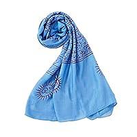 KEITH RICHARDS キースリチャーズ クリシュナ スカーフ/ブルー / 65×170 / マフラー