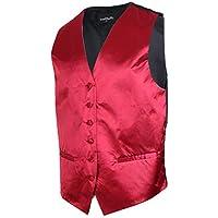 Baosity Men Retro Solid Vest Waistcoat Wedding Prom Party Tuxedo Suit Waiter Uniform