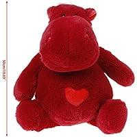 Chone 30 / 40 / 50 cm Plush Stuffed Animalおもちゃ、かわいいシミュレーション人形Lifelike Hippo withハートベビー誕生日ギフト 50cm レッド 5AC400285