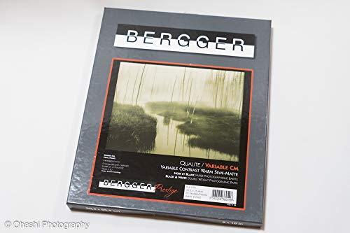 Bergger 白黒印画紙 Variable CM Warmtone Baryta Semi-matte 8x10 六切 25枚