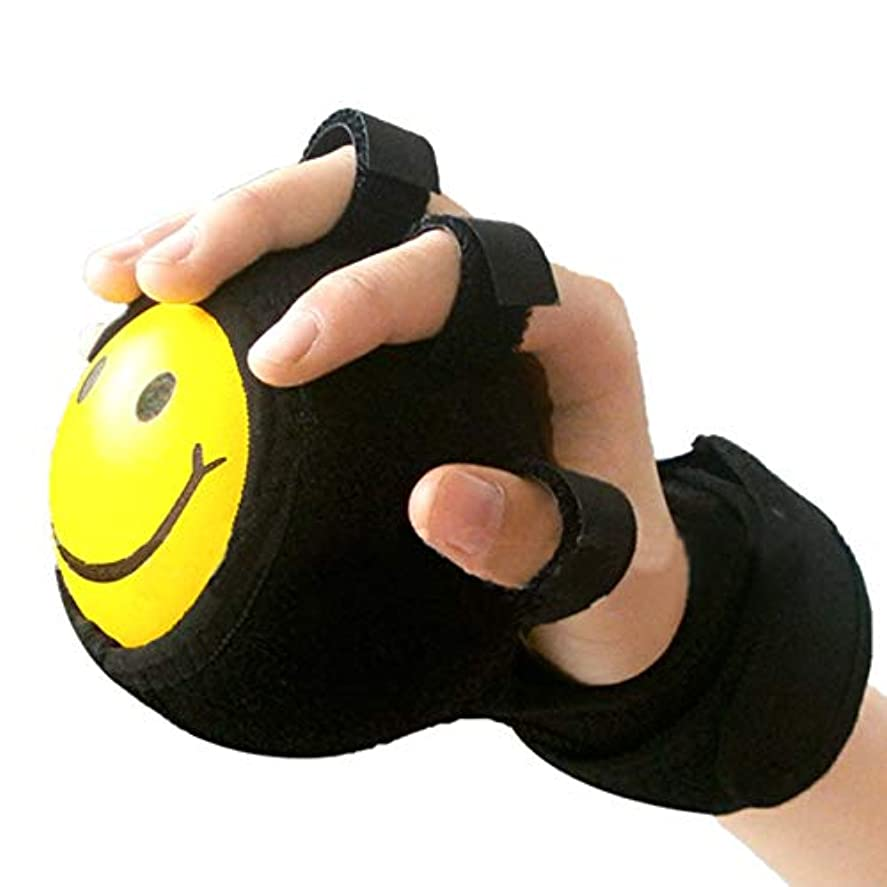 HAMILO リハビリ ボール 手 指 サポーター 固定 トレーニング 握力 エクササイズ 器具 (ブラック)