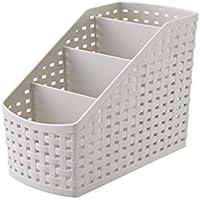 URIJK 収納ボックス おしゃれ卓上 化粧収納ケース リモコンラック 収納ボックス 文具 整理ケース 事務 プラスチック