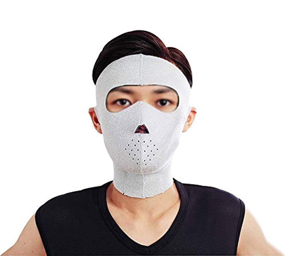 アイロニーお肉納屋フェイスリフトマスク、フェイシャルマスクプラス薄いフェイスマスクタイトなたるみの薄いフェイスマスクフェイシャル薄いフェイスマスクアーティファクトビューティー男性ネックストラップ付き