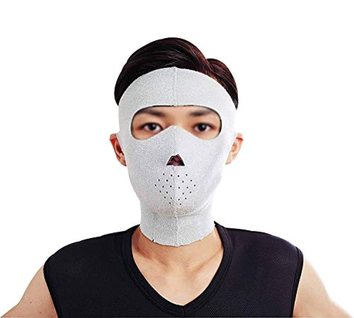 新年殉教者スポンジフェイスリフトマスク、フェイシャルマスクプラス薄いフェイスマスクタイトなたるみの薄いフェイスマスクフェイシャル薄いフェイスマスクアーティファクトビューティー男性ネックストラップ付き