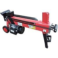 スピー堂 電動油圧式薪割り機 強力の最大8Tモデル (赤色)